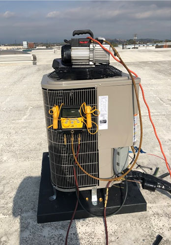 Rooftop Condenser in Commerce, CA